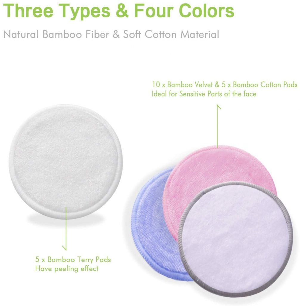 Ponsey Eco Friendly Makeup Remover Pads